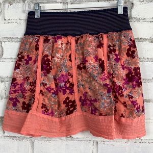Free People Floral Coral Skirt  | Size M